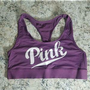 Victoria Secret PINK L Sport Bra Mesh Racerback